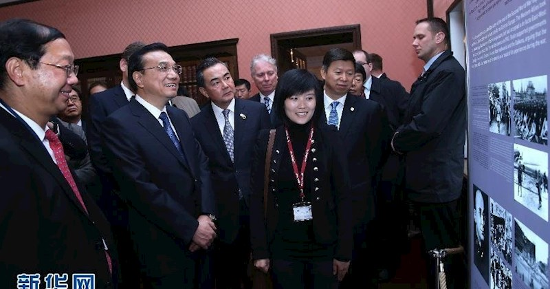 我院毕业生战祥净为李克强总理参观波茨坦会议旧址担任讲解